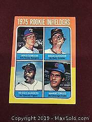Vintage 1975 Rookie Infielders Topps Baseball Card