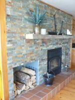 Ski Mont Ste-Marie or Relax and read in front of the fire place