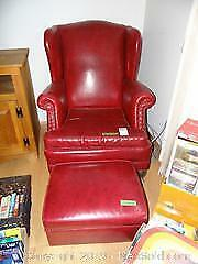 Wing Chair And Ottoman C