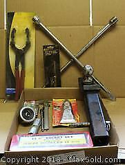 """Automotive Kit with 11 Piece Socket Set and Tire Iron and Tow Ball Kit Pick up in Time-slot """"A"""""""