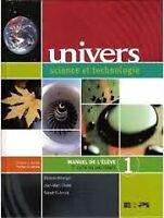 Manuel Univers science et technologie - secondaire 1