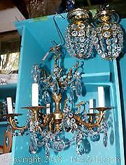Crystal chandelier and light fixtures