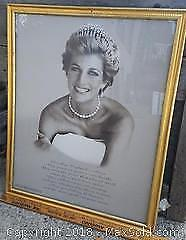 Framed Picture of Princess Diana