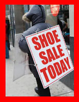Sandwich Board Advertising Position...Weekends Only $10.20 p/Hr.