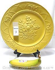 Summer Sun-Yellow Large Portuguese Serving Plate