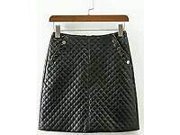 New Ladies Trendy Black Gridded Pattern Skirt