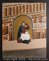 Oil of a Woman with Hats