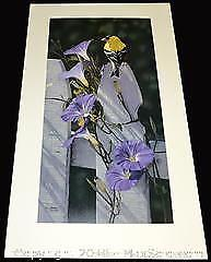 """Terry Isaac """"Morning Glories - American Goldfinch"""" limited edition print s/n"""