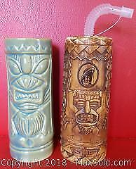 Tiki Mug And Vase Lot