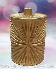 Gold Lucite Mid Century Covered Vanity Jar - B