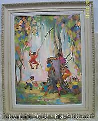 Original Listed Artist P. McNaughton Oil Painting Excellent example.