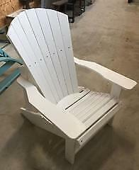 Rova Limited Recycled Plastic Generation Adirondack Chair #02 White - CRC01