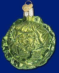 Old World Christmas Cabbage Glass Ornament, New In Box