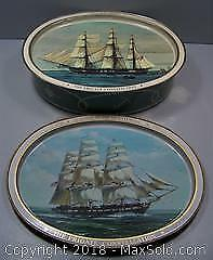 Two Sided 1976 Commemorative Biscuit Tin - USS Constitution - B