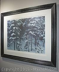 Robert Bateman - Descending Shadows - Timberwolves, limited edition, framed, s/n