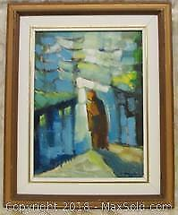 1975 Original Wood Framed Oil Painting on Canvas signed J. Therein
