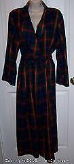 Ladies Marks & Spencer Plaid Robe Size 12/14 Near Mint - B