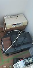 Vintage CRT TV, Cable Box and Clock Radios B