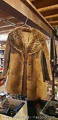 Beaver and Leather Ladies Jacket. A