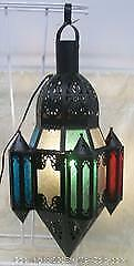 Stained Glass Arabesque Style Hanging Lamp