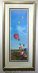 Craig Kodera The Great Greenwich Balloon Race limited edition print, framed, s/n
