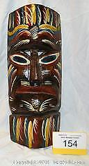 large HAND CARVED WALL ART mask