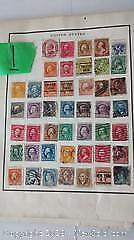 World Stamp Collection In Red Album.