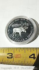 1885 To 1985 National Parks Canada Silver Dollar Coin.