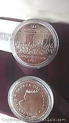 Two 1867 - 1992 Confederation Constitution Silver Dollars.