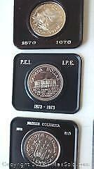 1970,1971 And 1973 Cased Canada Silver Dollars.