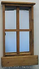 Handsome Pine Wood Framed Mirrored Wall Planter