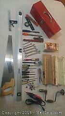 Toolbox, Jobmate Rotery Tool, Mitre Box and Misc Tools