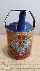 B. Hand painted vintage watering can