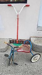 Vintage Pogo Stick and Tricycle