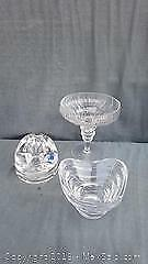 Rosenthal Crystal Footed Dish and Other Crystal Objects