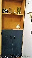 Shelving Unit with Cupboard.