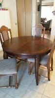 6 chairs and diningroom table