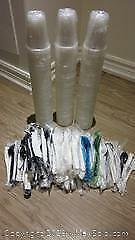 New Plastic Cups, Forks, Knives and Spoons Lot