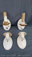 Two Pairs of Vintage Wall Sconces
