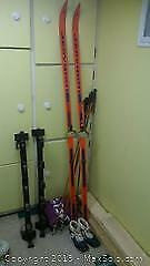 Jarvinen Tour glass 200cm Cross-country Skis, Poles, Boots, Roof Rack, Bag