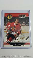 1990-91 Pro Set Al Secord Signed Hockey Card