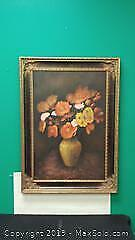 Large Framed Painting on Canvas ...W