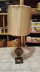Vintage glass and marble lamp