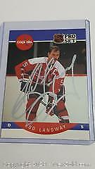 1990-91 Pro Set Rod Langway Capitals Autographed Hockey Card