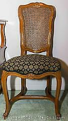 Cherry Wood Dining Chairs - Set of 10