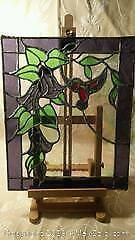 Old Stained Glass hummingbird