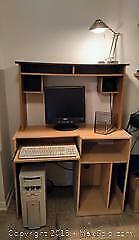 Work station Desk and file cabinet