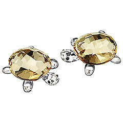 SWAROVSKI BABY TORTOISES GOLDEN SHADOW (SET OF 2) #1130268 BRAND NIB TURTLE F/SH