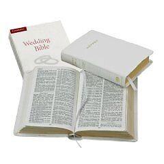 KJV Wedding Bible KJ12W white Imitation Leather - Press, Cambridge Uni New Item