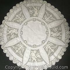 Round Antique Tablecloth